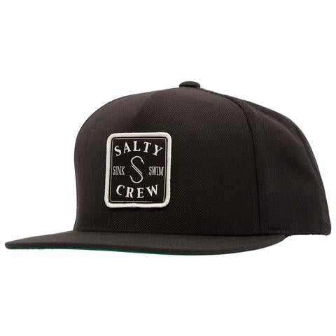 SALTY CREW S-Hook Patch Black Snapback Hat