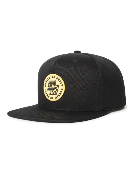 BRIXTON Gas MP Black Snapback Hat