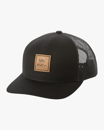 RVCA VA All The Way Curved Black Trucker Hat