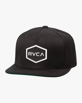 RVCA Commonwealth 2 Black Snapback Hat