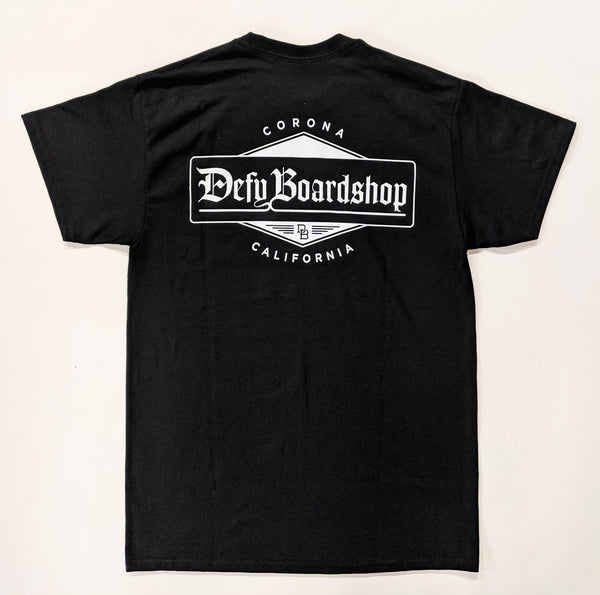 DEFY Old English Black T-Shirt