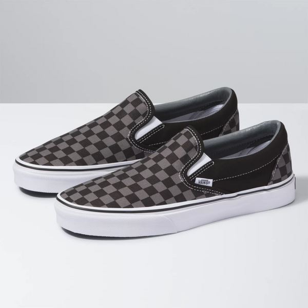 VANS Slip-On Checkerboard Black Pewter Shoes