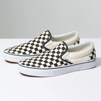 VANS Slip-On Checkerboard Black Off White Shoes