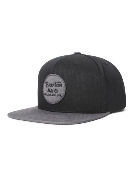 BRIXTON Wheeler Black Charcoal Snapback Hat