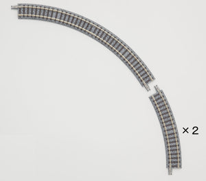 Tomix 1113 Mini Curve Rail C177 (F) (30 ° 60 ° 2 pcs Set )  N Scale