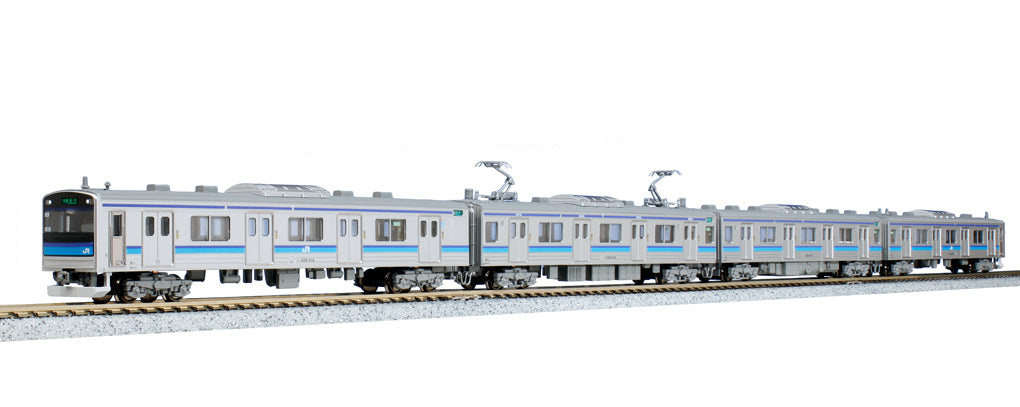 Kato 10-294 Series 205-3100 Senseki Line Color Single Arm Pantograph 4-Car Set  N Scale