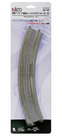 Kato 20-182 Double Track R414 / 381-22.5 ° Left and Right N Scale