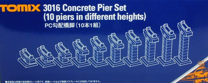 Tomix 3016 Concrete Pier Set (10 piers in different heights ) N Scale