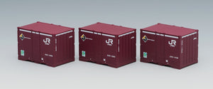 Tomix 3168 JR 20D container (additional type, 3 pcs) N Scale