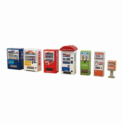 Sankei MP04-64 Vending Machine B 1/150 Paper Craft N Scale