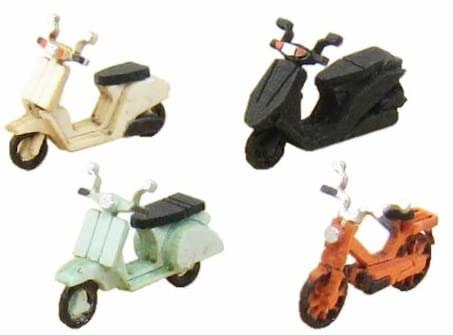 Sankei MP04-93 Moter Cycle B  Paper Craft N Scale