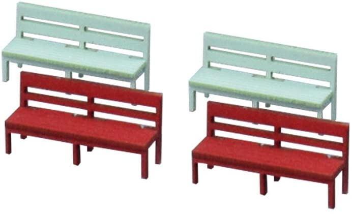 Sankei MP04-38 Bench B Options 1/150 Paper Craft  N Scale