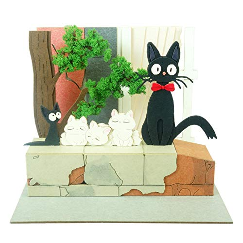 Sankei MP07-94 Studio Ghibli Mini Kiki's Delivery Service Jiji and Kittens Paper Craft