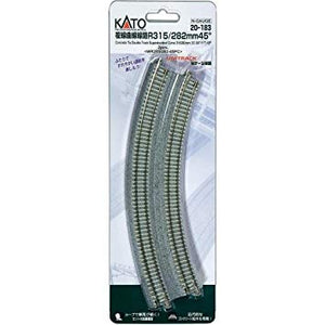 Kato 20-183 Double Curved Track R315 / 282-45 ° (2 pieces) N Scale