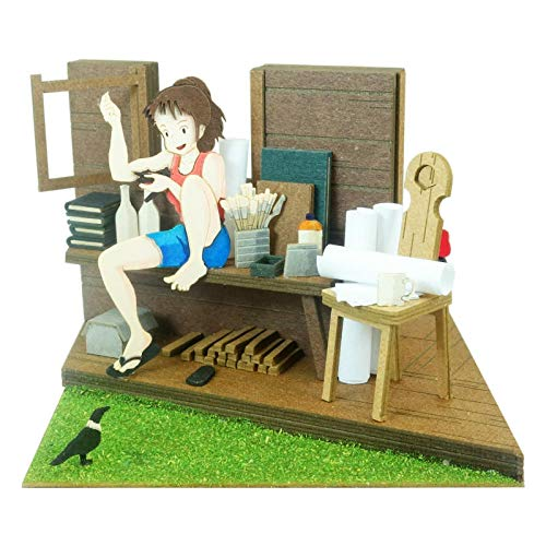 Sankei MP07-92 Sankei Studio Ghibli Mini Kiki's Delivery Service Ursula and Kiki Paper Craft