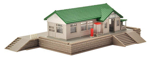Tomix 4202 Wooden Station Building Set Green N Scale