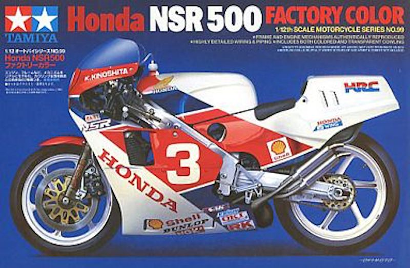 Tamiya 14099 Motorcycle Series Honda NSR500 Factory Color Plastic Model 1/12