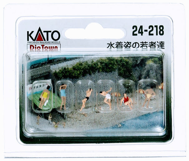 Kato 24-218 Model People Young Women and Men Swimming N Scale