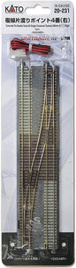 Kato 20-231 Double Track One Cross Turnout No. 4 Right  N Scale