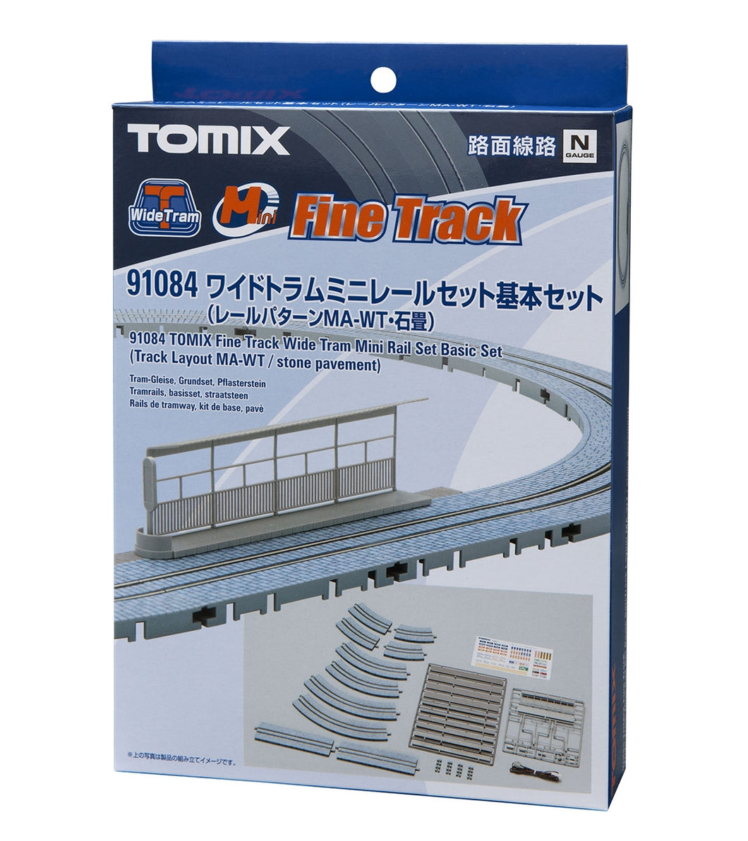 Tomix 91084 Wide Tram Mini Rail Basic Set Track Layout MA-WT Stone Pavement