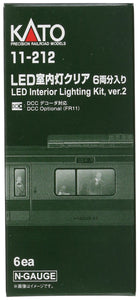 Kato 11-212 LED Interior Lighting Kit 6 Cars Set N Scale