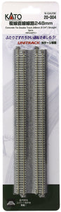 "Kato 20-004 248mm 9 3/4"" Straight Track WS248PC N Scale"