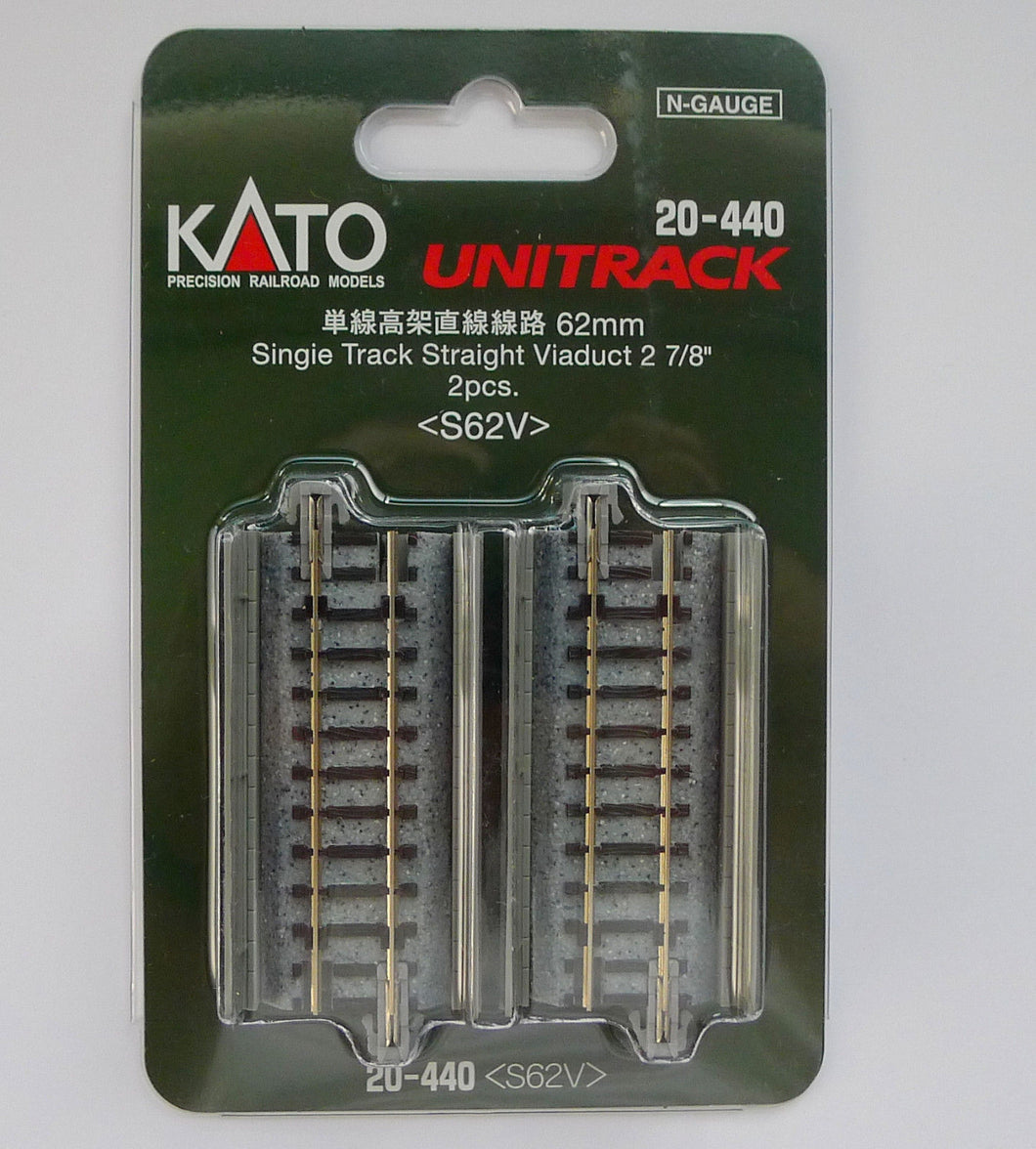 Kato 20-440 62mm Single Viaduct Track S62V N Scale