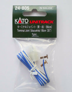 Kato 24-805 Terminal Joint Blue and White Cable 90cm 1 pcs N Scale