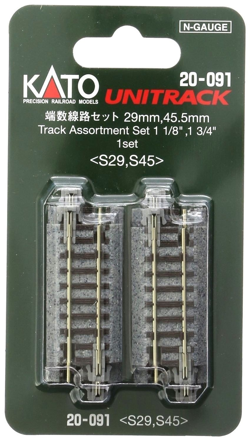 Kato 20-091 Straight Track 29mm S29 & 45.5mm S45 N Scale