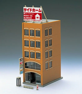 Tomix 4244 Diorama Business Building C Light Brown N Scale