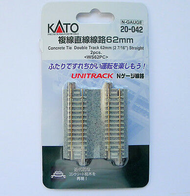 Kato 20-042 62mm Straight Track WS62PC N Scale