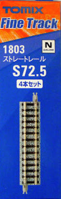 Tomix 1803 Straight Track S72.5(F) 4 pcs N Scale