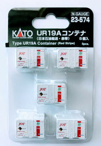 Kato 23-574 Type UR 19A Container Japan Oil Transportation Red Stripe