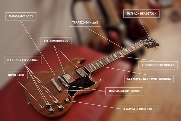 SG Guitar Kit Anatomy