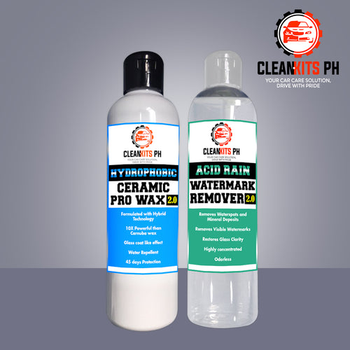 CLEANKITS 2 IN 1 PACKAGE HYDROPHOBIC AND ACID RAIN REMOVER
