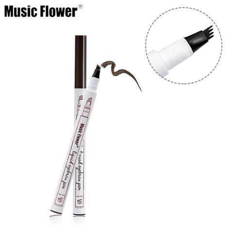 Hottest Trending Eyebrow Pen in 4 Head Fork Shape