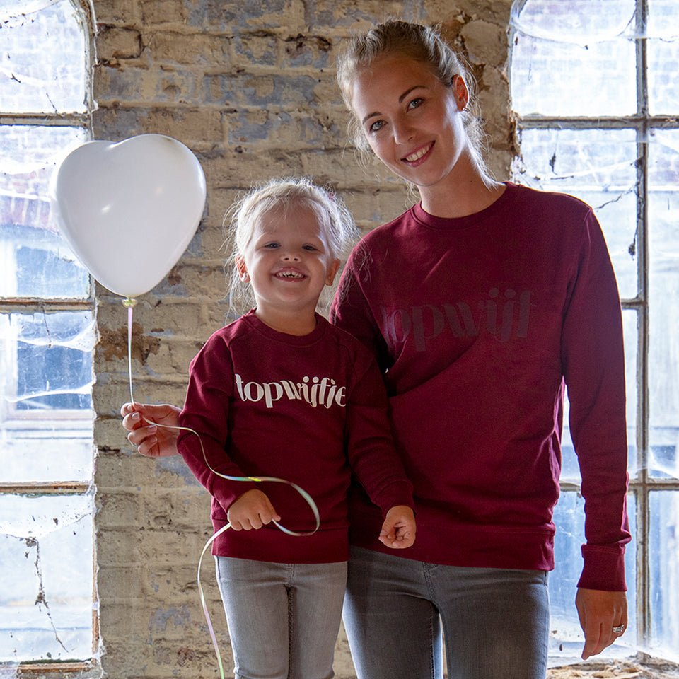 Topwijfje Sweater Bordeaux