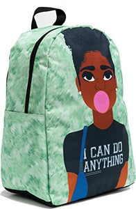 "Blended Designs Joy African American Laptop Backpacks I Can Do Anything (Youth 15"")"