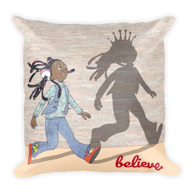 Believe Square Pillow