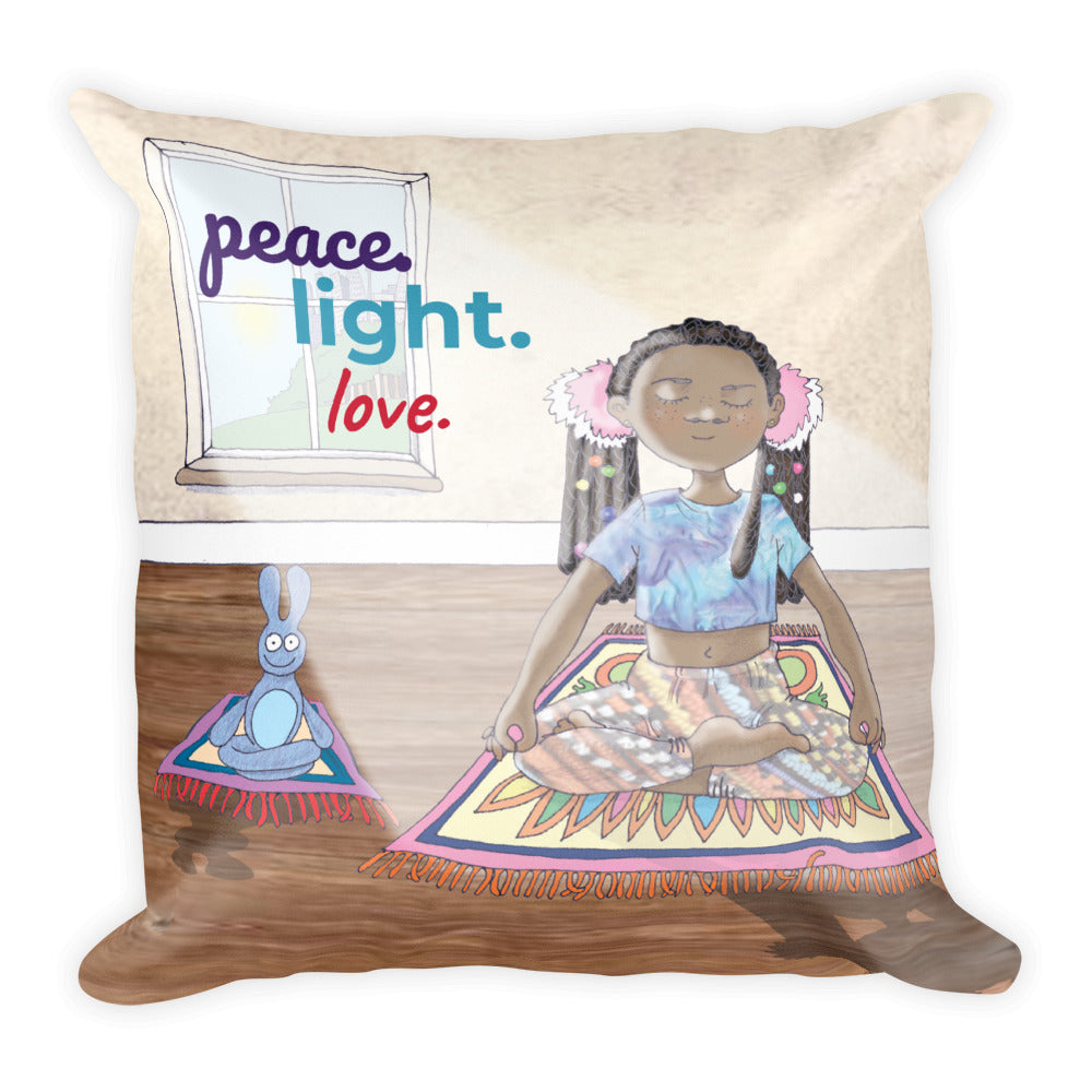 Meditate Square Pillow
