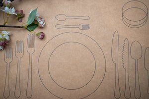 Perfect setting kraft paper table mats <br/> (set of 50)
