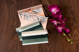 Seaweed & Palm Tree money envelopes <br/> (set of 4)