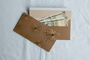 Dandelion money envelopes (foiling) <br/> (set of 6)