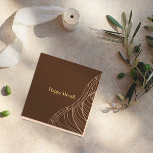 Sturdy brown diwali note cards (foiling) <br/> (set of 10)
