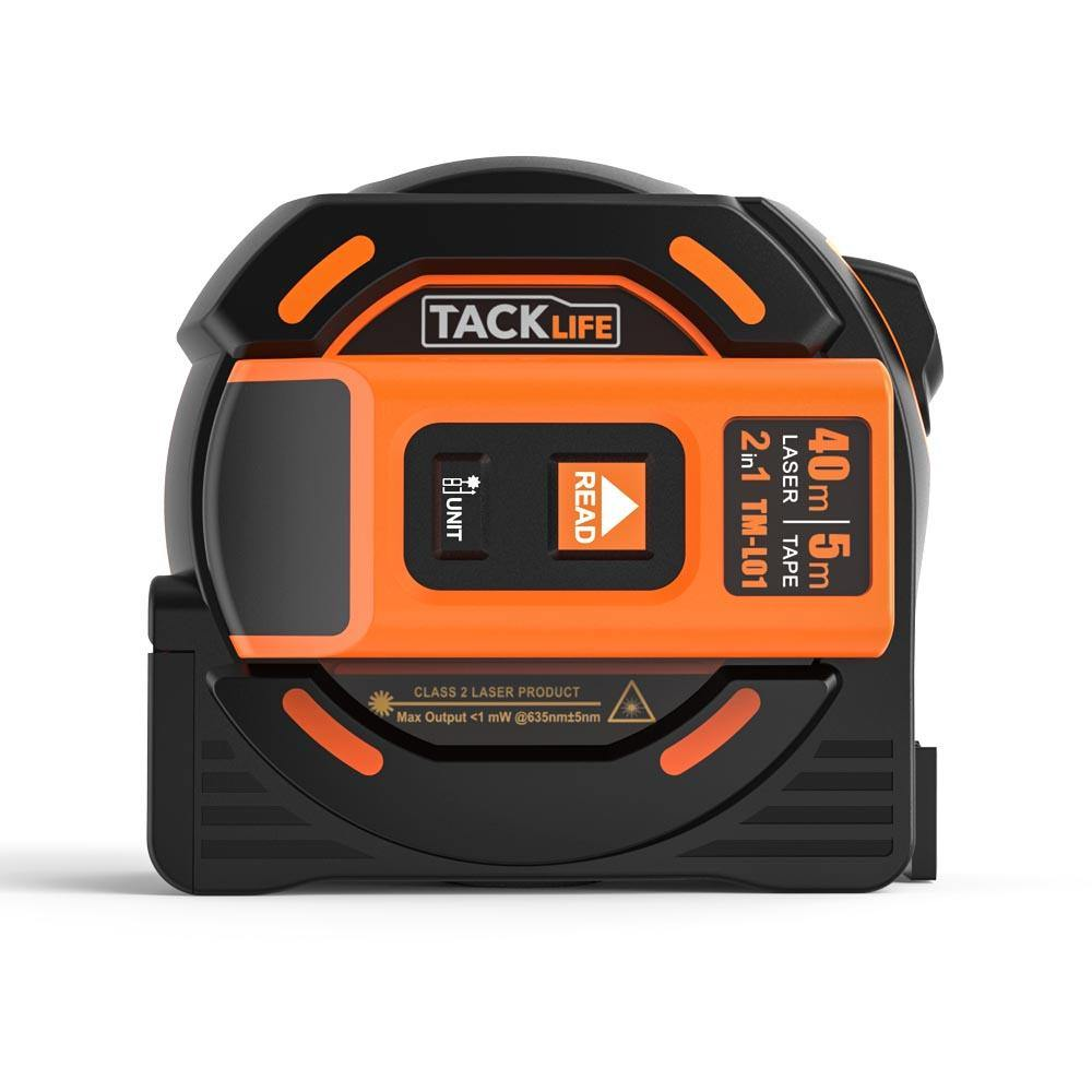 Laser Tape Measure 2-in-1 in Ft Metric and Inches with LCD Digital Display-TM-L01