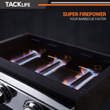 TACKLIFE 23-inch Propane Gas Griddle, 3 Burners, 25500 BTU, 355 sq. inches, Stainless Steel, for Outdoor Cooking While Having a Christmas Party, Camping, or Picnicking
