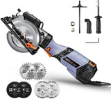 "6.2A TACKLIFE Premium, Electric Mini Circular Saw with 6 Variable Speed, 6 Blades(5"" & 4-1/2""), Unique Metal Handle, Pure Copper Motor, Laser Guide, 10Feet Cord, Small Circular Saw- TCS115E"