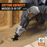 Reciprocating Saw,TACKLIFE 20V Cordless Reciprocating Saw, 2.0Ah Maximum Lithium Battery, With Charger,0-3000SPM Variable Speed, Tool-free Blade Replacement, 1 Inch Stroke Length -RES003