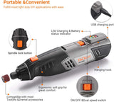 TACKLIFE Cordless Rotary Tool 4V Power Portable Size with Versatile Accessories, Perfect for DIY Creation and Light Duty-RTH30DC