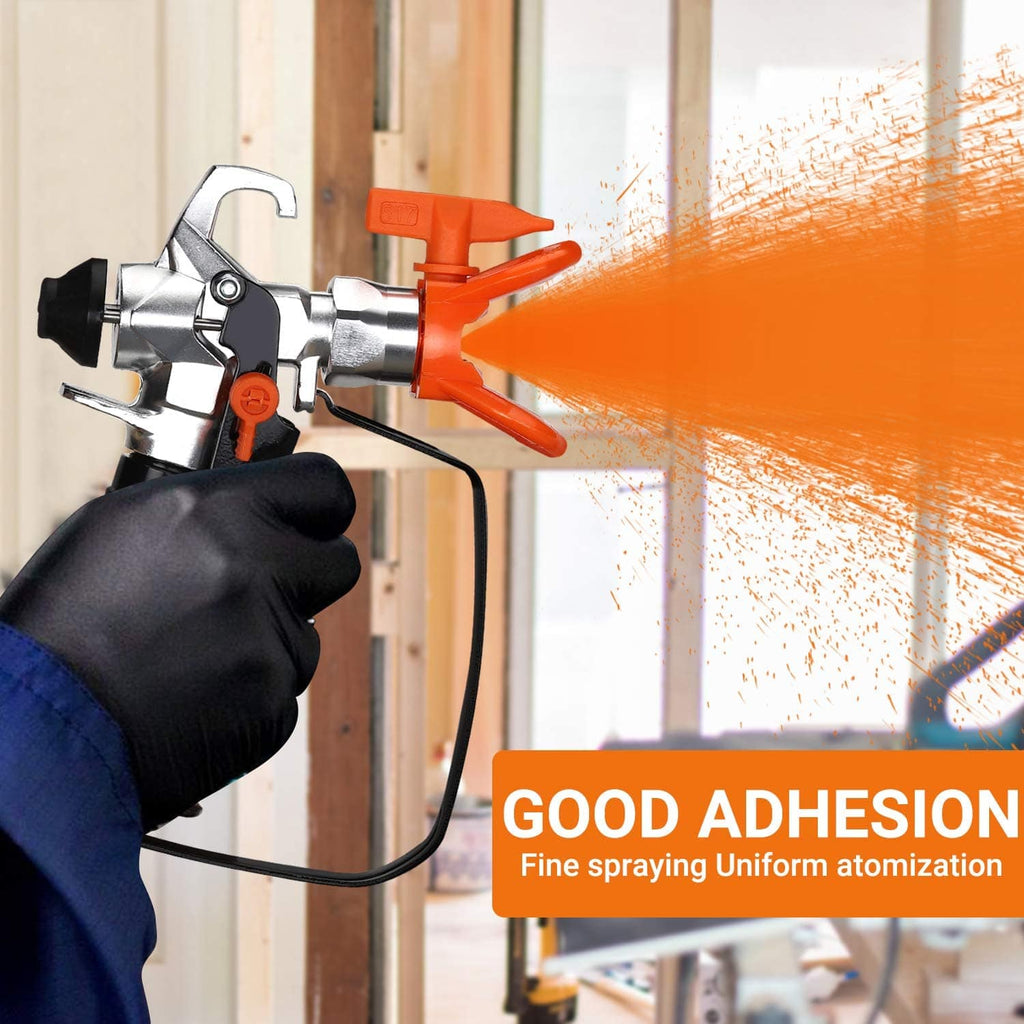 Airless Paint Sprayer, 500W Spray Gun Tool for Interior & Exterior Home, Specialized for Water-based Paint, Including 25 Feet High Pressure Paint Hose, Cleaning Brush, Changeable Filter